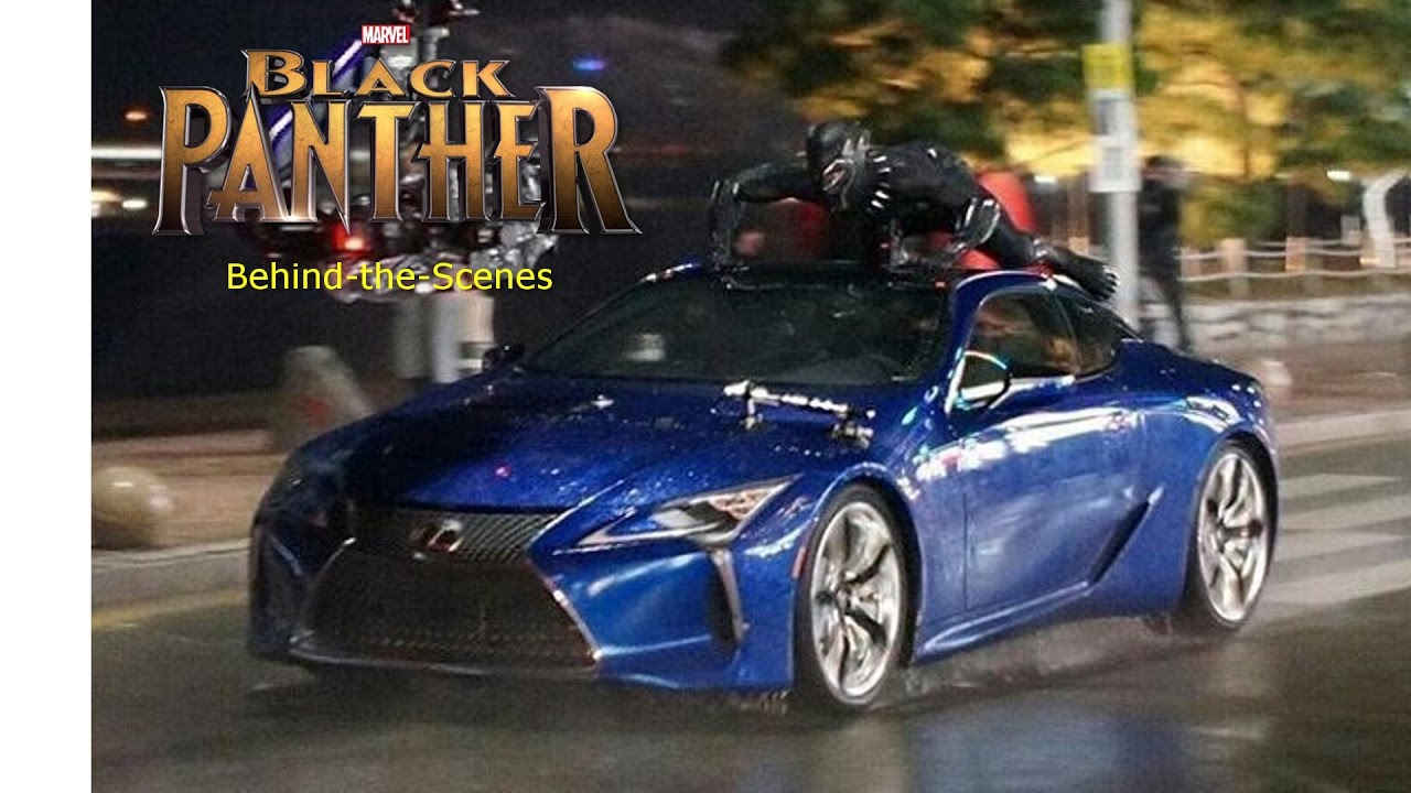 Black Panther Riding A Car Behind The Scenes Clip Chadwick