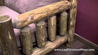 Log Oversize Chair | Log Chair-and-a-half Cedar Lake Cabin Collection