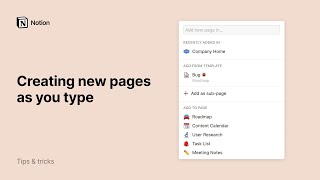 Creating new pages as you type