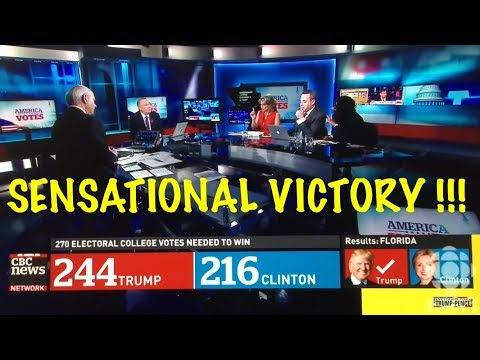 The moment the CANADIAN BROADCASTING CORPORATION (CBC) realizes Donald Trump has WON the election