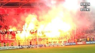 Hallescher FC 2:1 1. FC Magdeburg 18.05.2016   Choreos, Pyroshows & Support