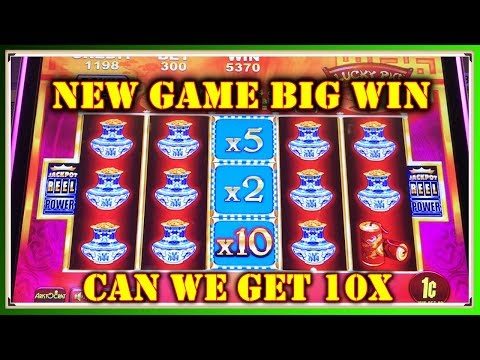 NEW GAME CAN WE GET 10x? JACKPOT REEL POWER LUCKY PIGS GOLD BONANZA SLOT MACHINE - 동영상