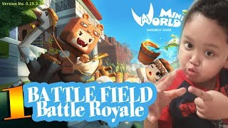 Anak SD VS Bapake, bermain Battlefield Battle Royale di Mini World Block Art, Siapa yang menang?