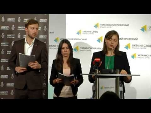 Amnesty International. Ukraine crisis media center, 11th of