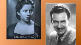 """Lily Berchman y Luis Sagi Vela """"Vals final"""" La viuda alegre, Léhar"""