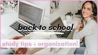 Back To School Study Tips + Organization | How to Survive Back To School 2020