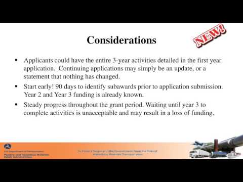 HazMat Emergency Preparedness Grant Application Webinar for States and Territories (2016)