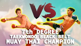 7th Degree Taekwondo Blackbelt vs. Muay Thai Champion