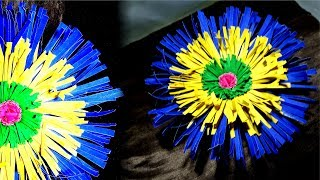 Colorful flower from paper - how to make a paper flower tutorial - Tuber Tip