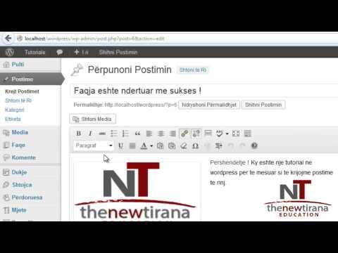 Wordpress Shqip - 3 - Media, faqet dhe komentet - Tirana Education