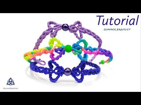 Infinity Macrame Bracelet Tutorial   EASY Friendship Bracelet DIY