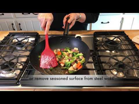 Wok Tool - Stir Fry Silicone Wok Tool - Helen's Asian Kitchen