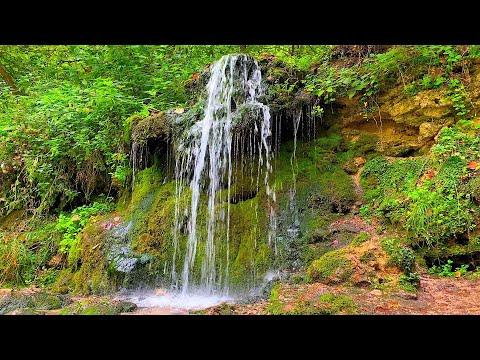 Успокаивающий шум лесного водопада для медитации и сна.