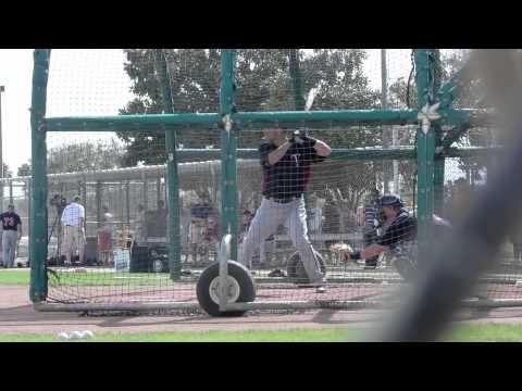 Joe Mauer Spring Training 2012 BP and Live BP