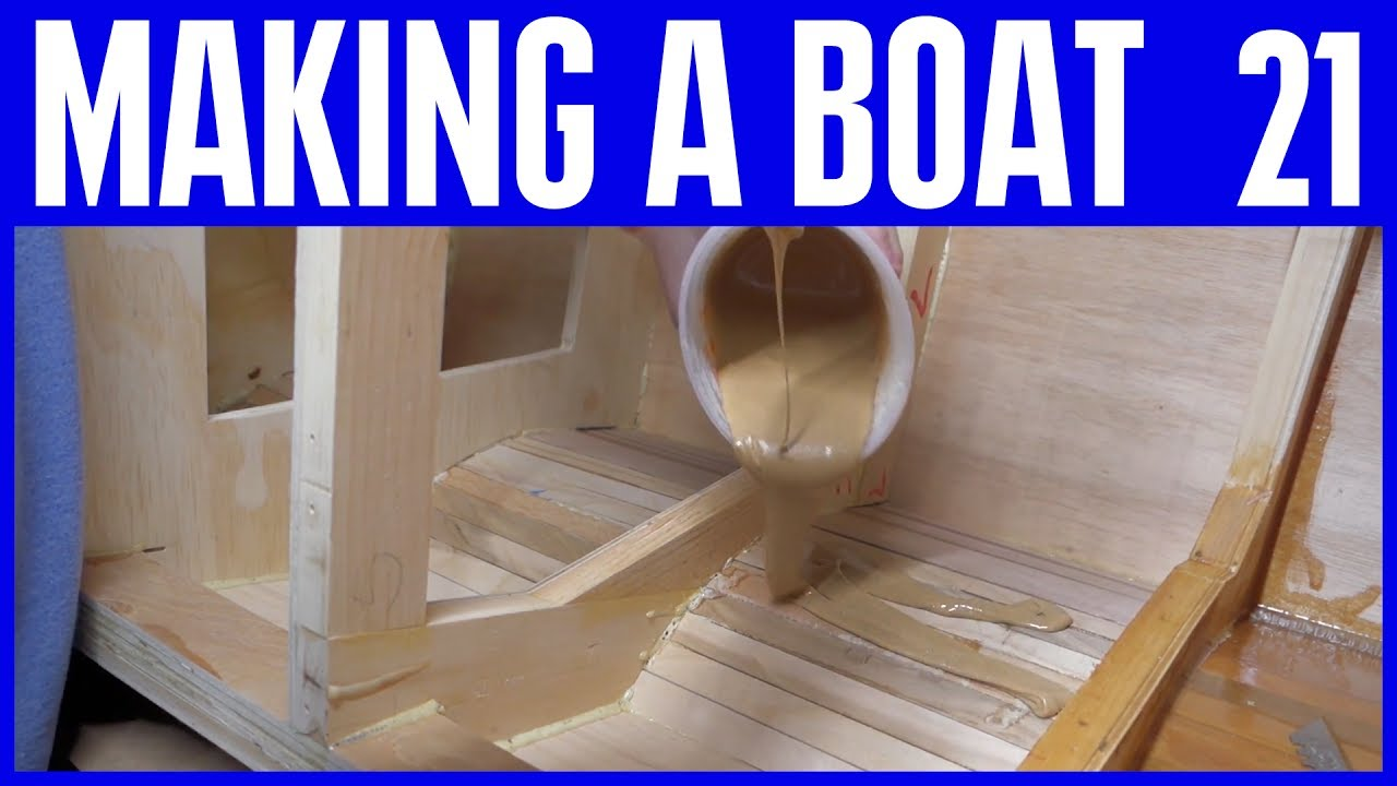 Marine Epoxy Resin Coating The Inside Hull How To Build A Wooden Boat 21