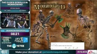 The Elder Scrolls III: Morrowind by AlbinoAlbatross in 35:06 - SGDQ 2016 - Part 122