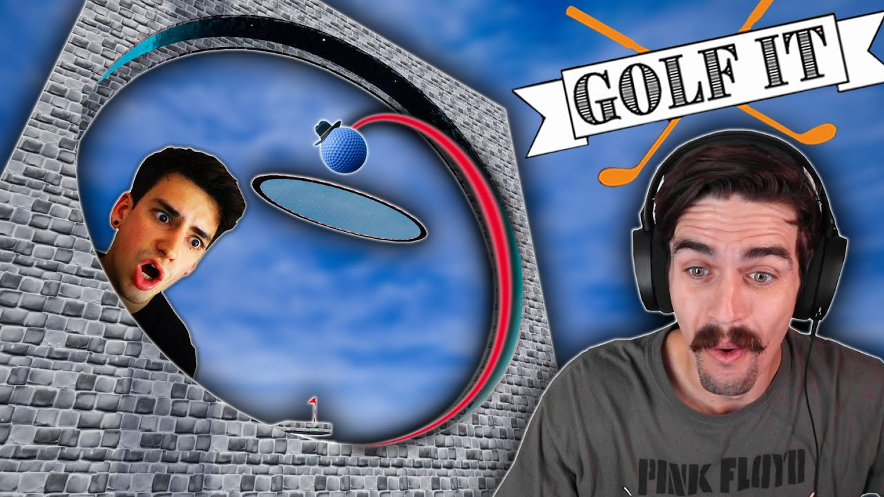 AMAZING MINI GOLF CUSTOM MAP with @Sam Tabor Gaming (Golf It)