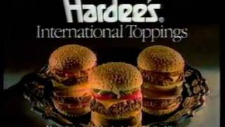 "Video 1988 Hardees Restaurant Commercial ""International Toppings"" download MP3, 3GP, MP4, WEBM, AVI, FLV April 2018"