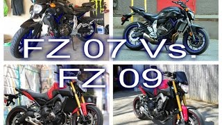 fz 07 vs fz 09