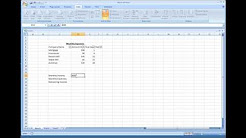 Microsoft Excel - Creating a Simple Expense Sheet