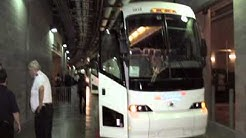 Dallas Cowboys team bus, Champion Coach, at Cowboys Stadium, TX
