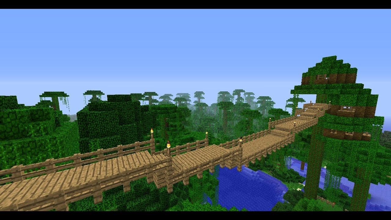Build A Diagonal Bridge In Minecraft