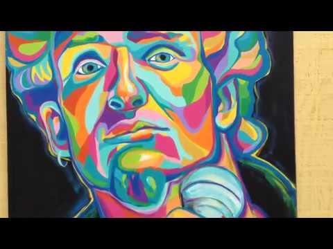 Layne Staley Painting, Alice in Chains Original Artwork Art