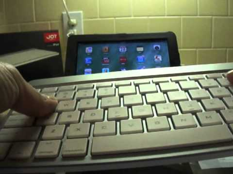 how to connect a bluetooth wireless ipad keyboard youtube. Black Bedroom Furniture Sets. Home Design Ideas
