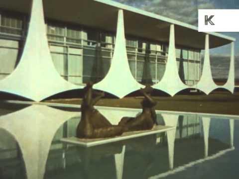 1950s 1960s brasilia brazil construction modern for Architecture 1950