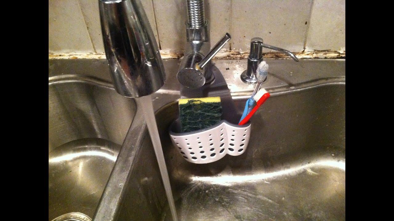 Casabella Sink Sider Faucet Sponge Holder Review   YouTube
