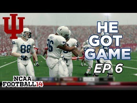 NCAA Football 14 Dynasty   Indiana Hoosiers - Saquon Barkley Showdown!! - Ep 6