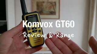 Komvox GT60 - Walkie Talkies for Kids (Review and Range Test)