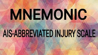 MEDICAL MNEMONICS - ABBREVIATED INJURY SCALE (AIS) NEET PG / DNB CET / USMLE