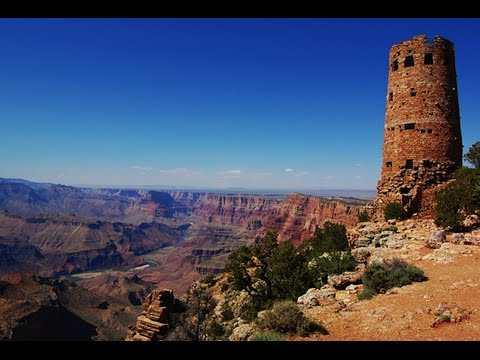 Desert View Watchtower- The Grand Canyon - YouTube