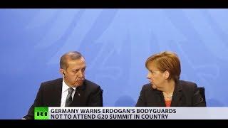 Erdogan's bodyguards not welcome at Hamburg G20 – Germany