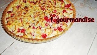 Tarte Crumble Framboise Pommes - تارت كرامبل التوت و التفاح