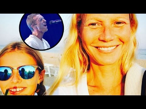 Gwyneth Paltrow's Daughter Apple Channels Dad Chris Martin With Adorable Guitar Performance!
