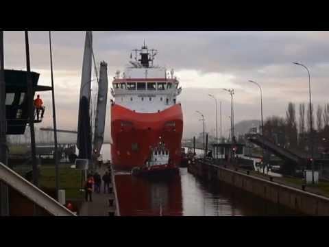 Cargo ships in delfzijl