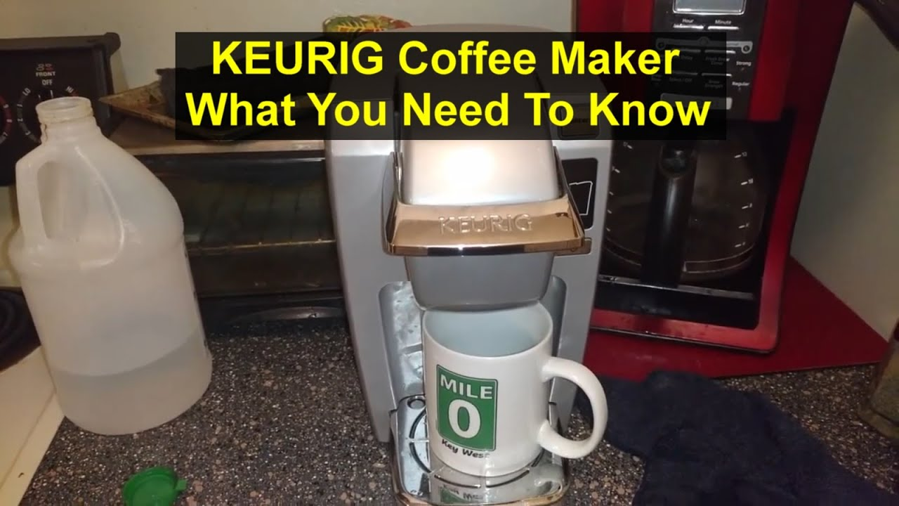 keurig coffee maker use cleaning deep cleaning function etc votd youtube