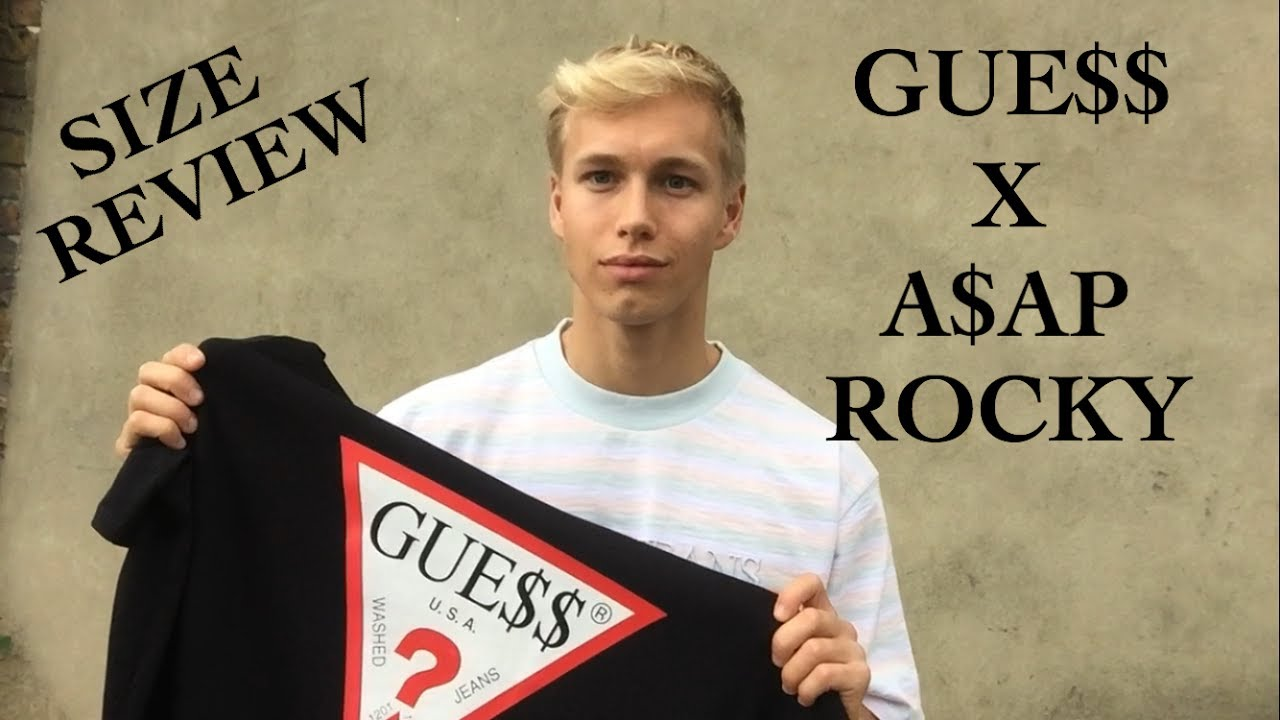 1479ef95c8 A$AP ROCKY X GUESS PICK UPS & SIZE REVIEW - YouTube