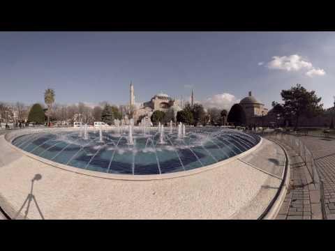 360 video: Sultan Ahmet Square, Istanbul, Turkey