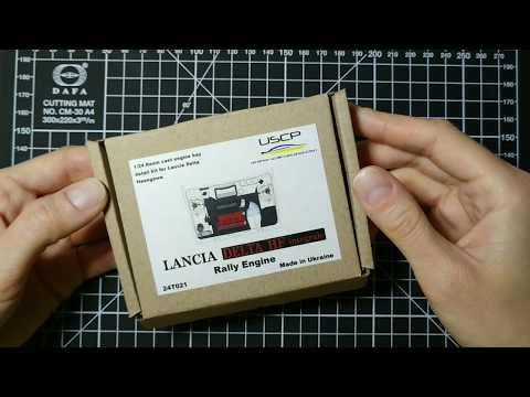 USCP Lancia Delta HF Integrale Rally engine kit 1/24 Review