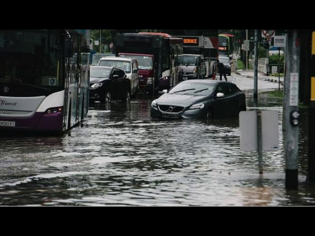 Flash floods and ponding in Singapore and JB over the new year's weekend