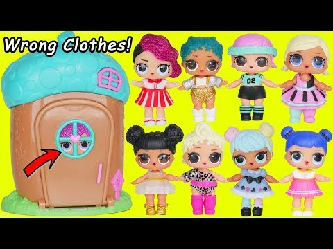 Thumbnail: L.O.L. Surprise! Dolls Wrong Clothes Rescue Woodzeez House Glitter Lil Sisters Transform Unboxed!