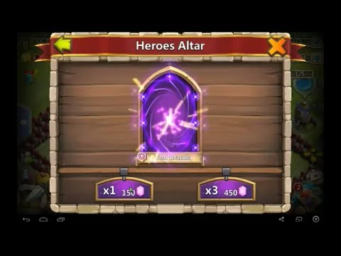 How to get a legendary hero 100% free gems - Castle Clash