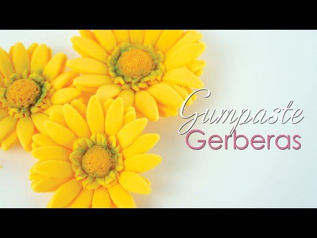 Gumpaste Gerbera / Daisy Tutorial