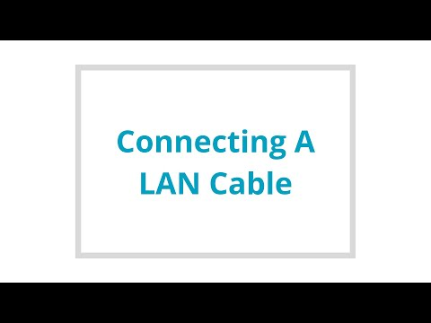 Connecting a LAN Cable
