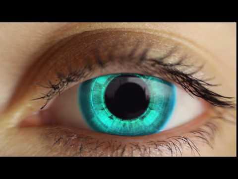 End screen video intro or outro, High-tech eye logo