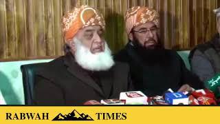 JUI-F Leader Fazal ur Rahman blames PTI for endorsing Israel & Ahmadis