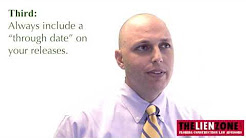 Florida Construction Lien Waivers - Three Common Mistakes to Avoid